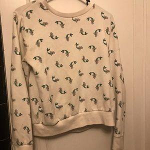 White mermaid sweater